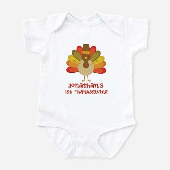 Personalized 1st Thanksgiving Turkey Infant Bodysu