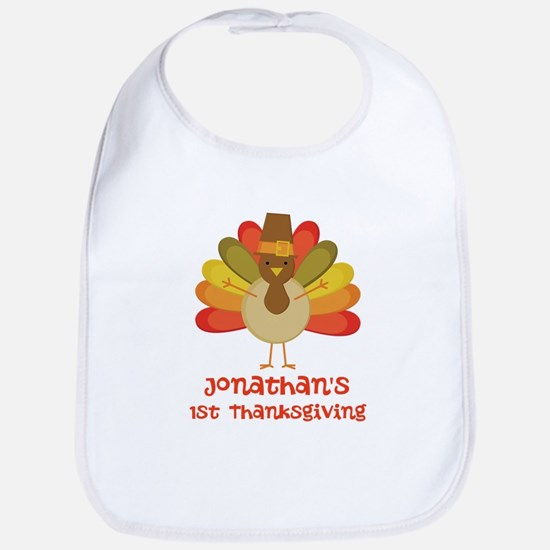 Personalized 1st Thanksgiving Turkey Bib