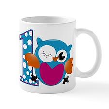 Cute Owl First Birthday Mug