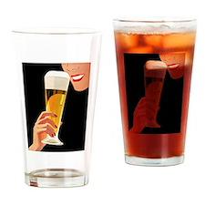 Beer, Pilsner Glass, Vintage Poster Drinking Glass
