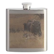 Bull Bison, Female, & Wolf Flask