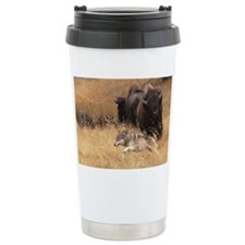 Bull Bison, Female, & Wolf Travel Mug