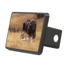 Bull Bison, Female, & Wolf Hitch Cover
