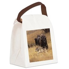 Bull Bison, Female, & Wolf Canvas Lunch Bag