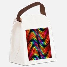 Fractal Silk Rainbow Pattern Canvas Lunch Bag