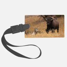 Bull Bison & Wolf Luggage Tag