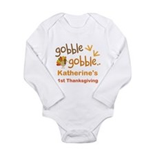 Personalized 1st Thanksgiving Turkey Long Sleeve I