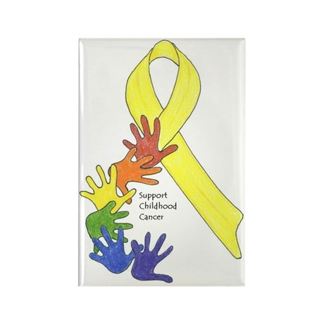 Support Childhood Cancer Rectangle Magnet