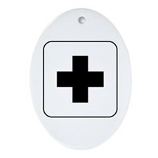 Medical Help Oval Ornament
