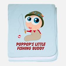 Personalized Fishing Buddy baby blanket