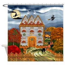 Samhain Cottage Shower Curtain