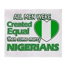 Nigerian wife designs Throw Blanket