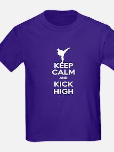 Keep Calm Kick High Girl T