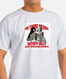NO PUPPY MILLS Ash Grey T-Shirt