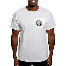 USN Go Navy Ash Grey T-Shirt