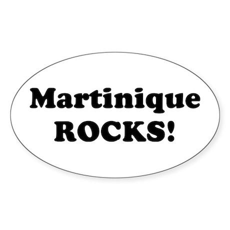 Martinique Rocks! Oval Sticker