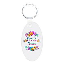Proud Nana Flowers Keychains