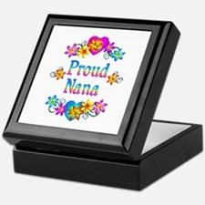 Proud Nana Flowers Keepsake Box