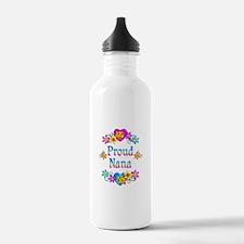Proud Nana Flowers Water Bottle