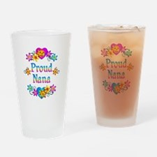 Proud Nana Flowers Drinking Glass