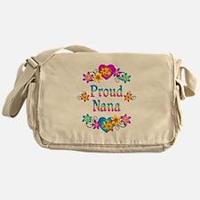 Proud Nana Flowers Messenger Bag