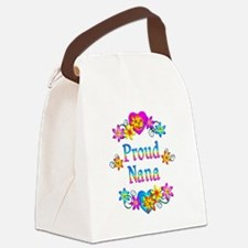 Proud Nana Flowers Canvas Lunch Bag