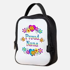 Proud Nana Flowers Neoprene Lunch Bag
