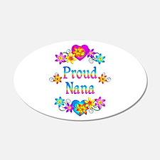 Proud Nana Flowers Wall Sticker