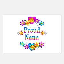 Proud Nana Flowers Postcards (Package of 8)