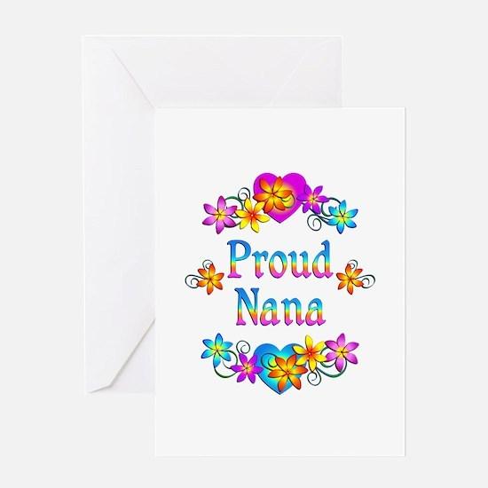 Proud Nana Flowers Greeting Card