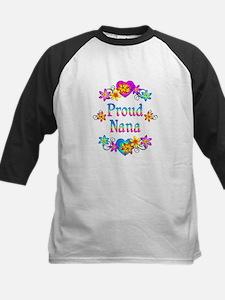Proud Nana Flowers Kids Baseball Jersey