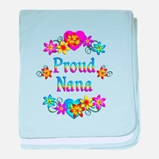 Proud Nana Flowers baby blanket