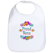 Proud Nana Flowers Bib