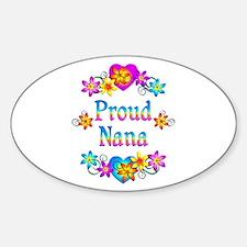 Proud Nana Flowers Decal
