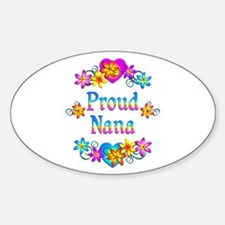 Proud Nana Flowers Bumper Stickers