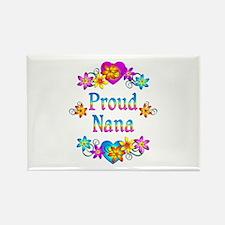 Proud Nana Flowers Rectangle Magnet (10 pack)