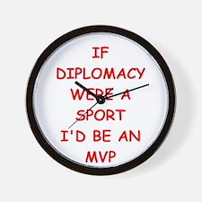 diplomacy Wall Clock