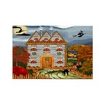 Samhain Cottage Rectangle Magnet (10 pack)