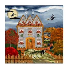 Samhain Cottage Tile Coaster