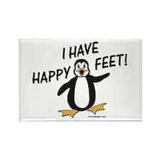 Happy Feet Penguin Rectangle Magnet
