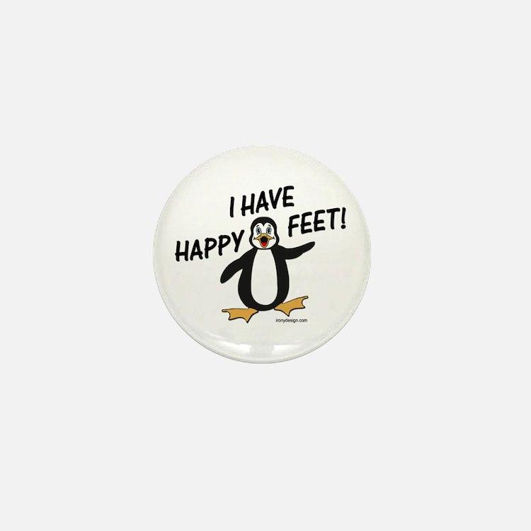 Happy Feet Penguin Mini Button (10 pack)