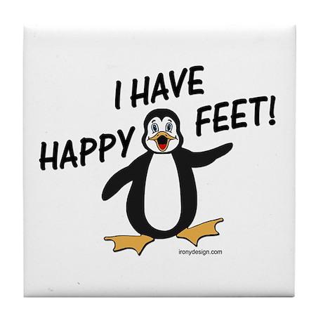 Happy Feet Penguin Tile Coaster