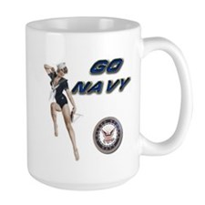 USN Go Navy Girl Mug