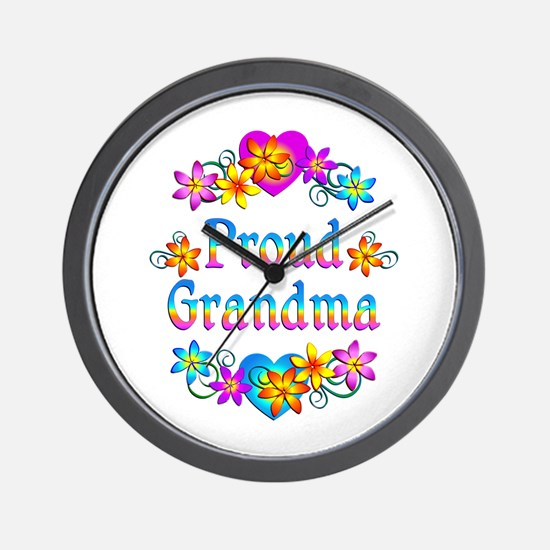 Proud Grandma Wall Clock