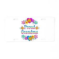 Proud Grandma Aluminum License Plate