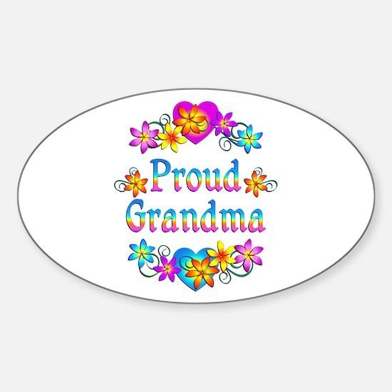 Proud Grandma Sticker (Oval)