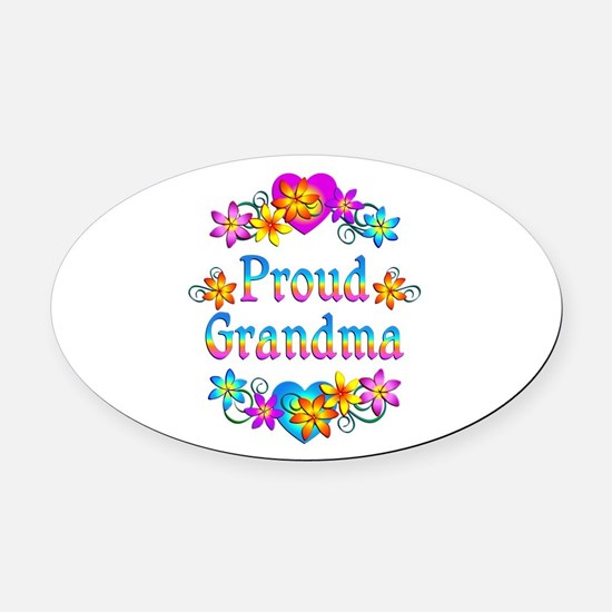Proud Grandma Oval Car Magnet