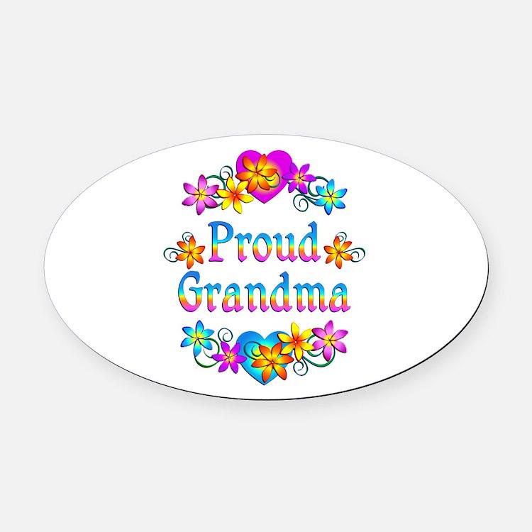 Proud Grandma Oval Car Magnet