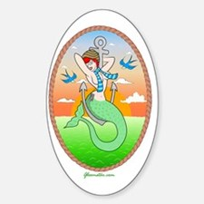 Hipster Mermaid Pin Up Decal