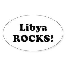 Libya Rocks! Oval Decal